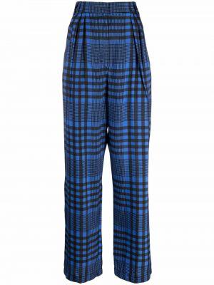 Синие брюки из вискозы Christian Wijnants