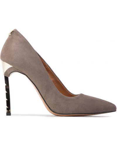 Туфли на каблуке - серые R.polański
