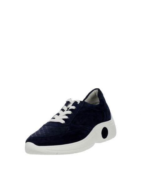 Buty sportowe skorzane - niebieskie Peter Kaiser