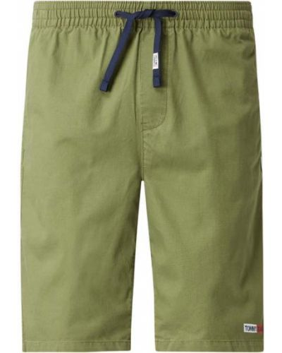Bawełna bawełna zielony dżinsowe szorty z kieszeniami Tommy Jeans