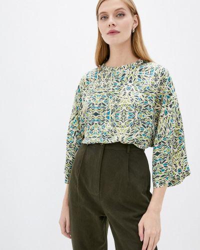 Зеленая блузка с длинными рукавами Unq