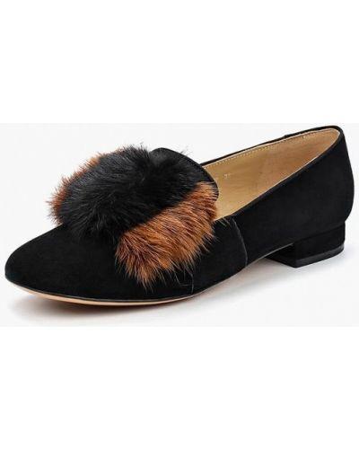Черные замшевые туфли Vitacci