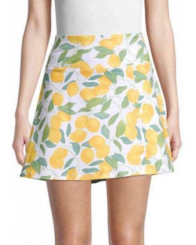 Белая юбка мини с карманами Nanette Lepore