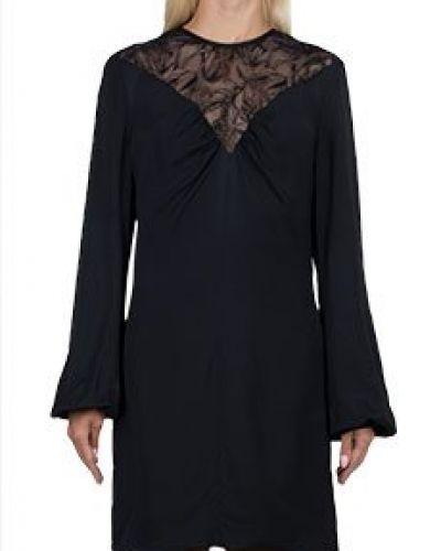 Платье из вискозы - черное Roberto Cavalli