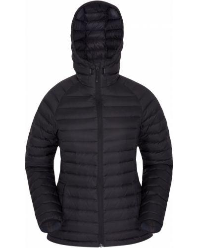 Czarna kurtka z kapturem materiałowa Mountain Warehouse