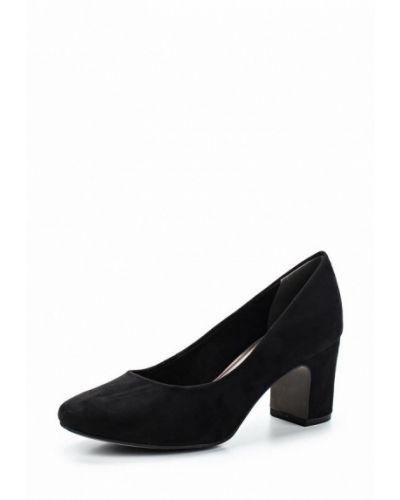 Черные туфли на каблуке Tamaris
