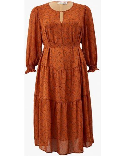 Коричневое повседневное платье Intikoma