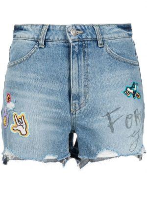 Джинсовые шорты - синие Sjyp
