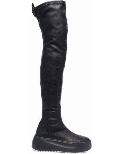 Кожаные ботфорты - черные Vic Matie