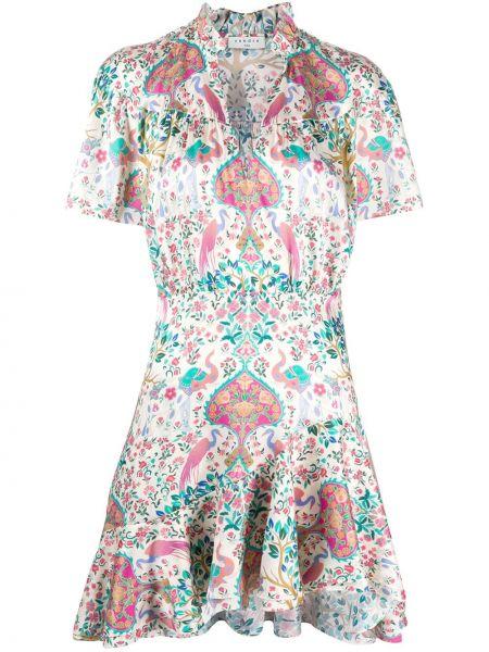 Платье мини с V-образным вырезом с воротником Sandro Paris
