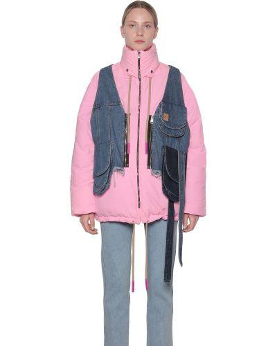 Джинсовая куртка дутая нейлоновая Natasha Zinko