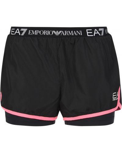 Шорты черные Ea7 Emporio Armani