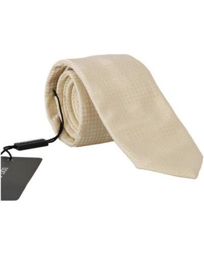 Klasyczny krawat - beżowy Dolce And Gabbana