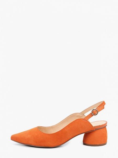 Оранжевые кожаные туфли с открытой пяткой из натуральной кожи Arezzo