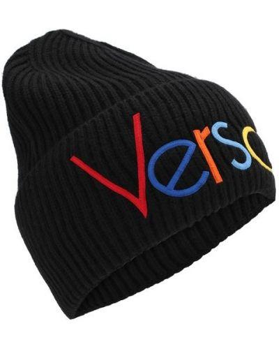 Шапка черная с логотипом Versace