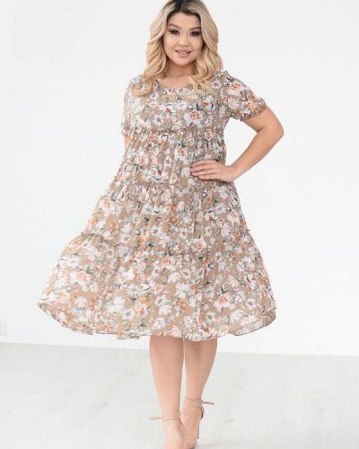 Деловое шифоновое платье с подкладкой Sofia