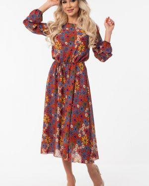 Платье с поясом шифоновое платье-сарафан Wisell