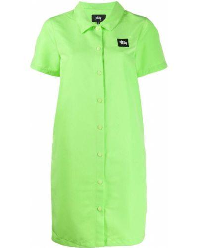 Платье рубашка - зеленое Stussy