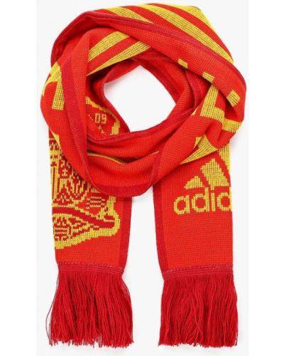 Красный шарф Adidas