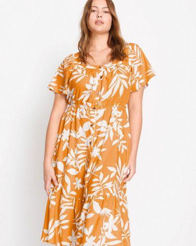 Желтое платье Violeta By Mango