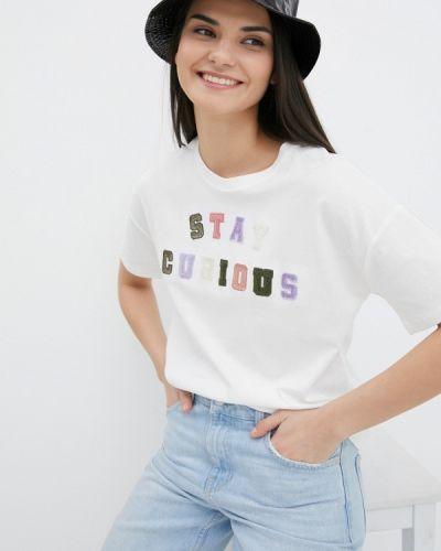 Белая футболка с короткими рукавами S.oliver