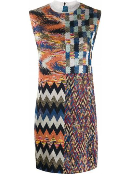 Платье мини с завышенной талией вязаное Missoni