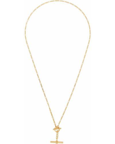 Naszyjnik łańcuch srebrny - żółty Bottega Veneta