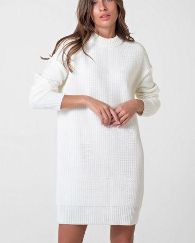 Повседневное с рукавами вязаное платье-свитер Fly