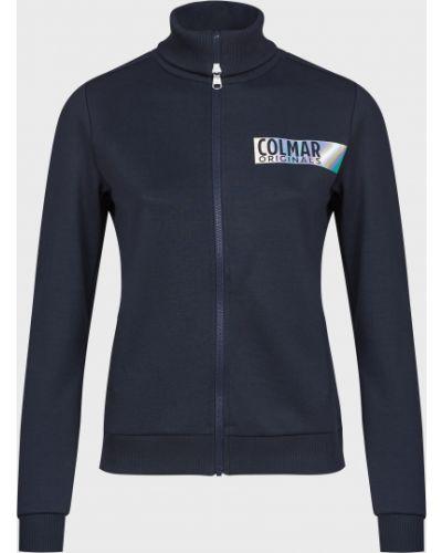 Хлопковая синяя кофта на молнии Colmar Originals