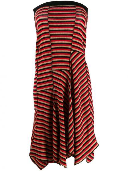 Шерстяное платье макси - красное Sonia Rykiel