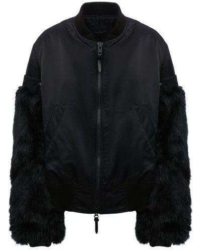 Куртка из полиэстера - черная Yohji Yamamoto