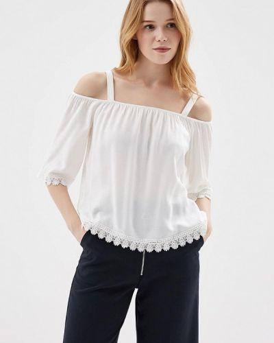 Белая блузка с открытыми плечами Springfield