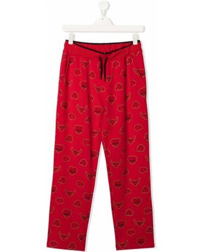 Spodnie bawełniane z printem Kenzo Kids