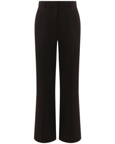 Прямые шерстяные коричневые классические брюки Kenzo