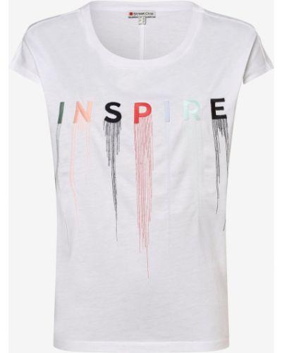 Biała t-shirt z haftem Street One