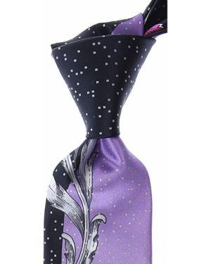 Krawat srebrny - czarny Pancaldi