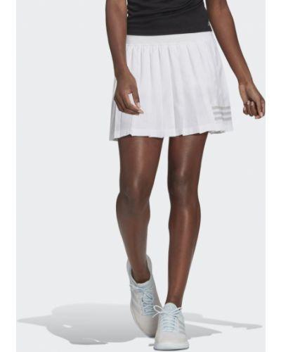 Теннисная белая плиссированная юбка Adidas