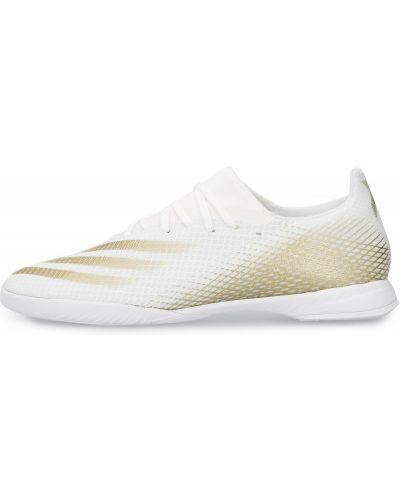 Текстильные белые футбольные бутсы Adidas