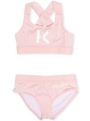 Różowy bikini z printem Kenzo Kids
