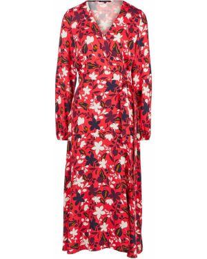 Красное платье из вискозы Marc O`polo