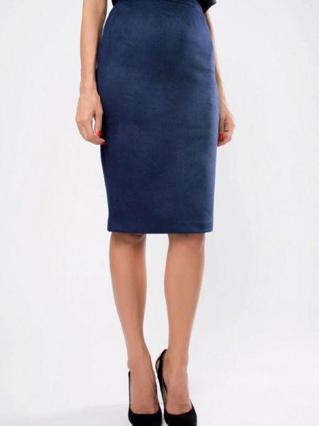 Синяя юбка Kotis Couture