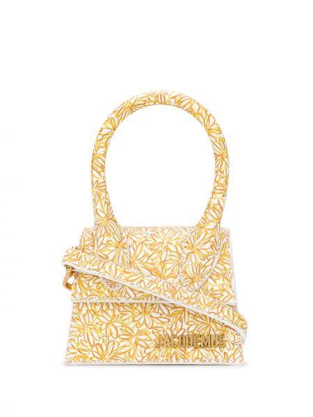 Кожаная сумка с леопардовым принтом маленькая Jacquemus