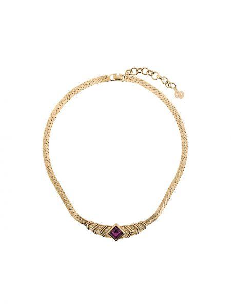 Ожерелье металлическое - желтое Christian Dior Pre-owned