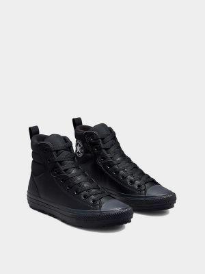 Высокие кеды - черные Converse