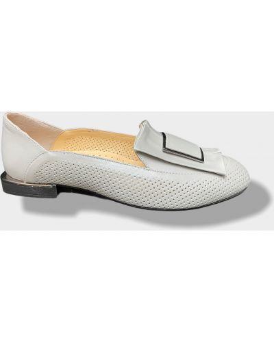 Кожаные балетки - серые Erdo