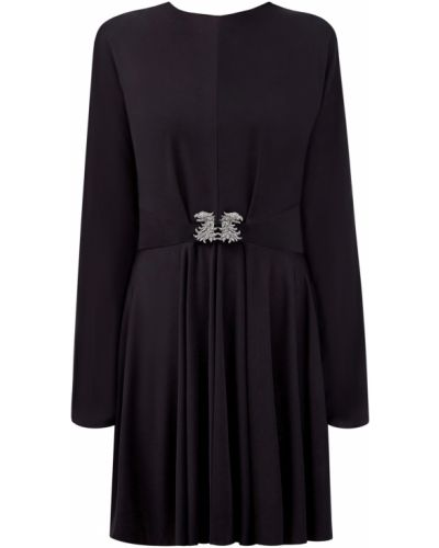 Черное мягкое вечернее платье с сеткой из вискозы Valentino