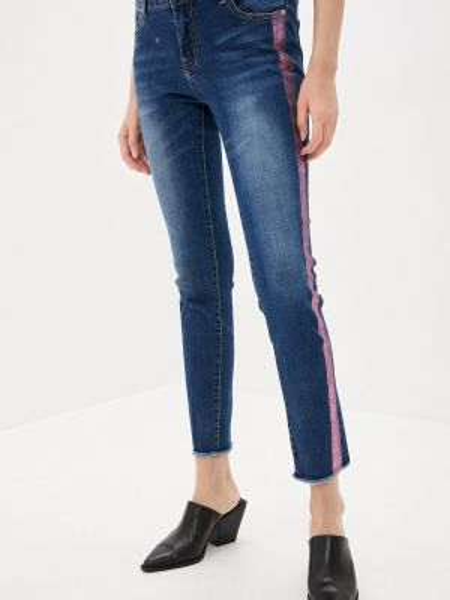 Синие джинсы-скинни с пайетками Sh