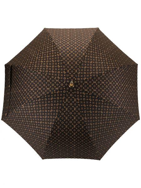 Parasol brązowy złoto Louis Vuitton Pre-owned