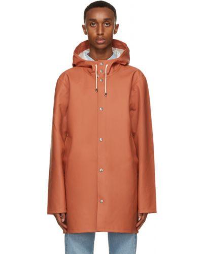 Pomarańczowy płaszcz przeciwdeszczowy od płaszcza przeciwdeszczowego z długimi rękawami z kieszeniami Stutterheim