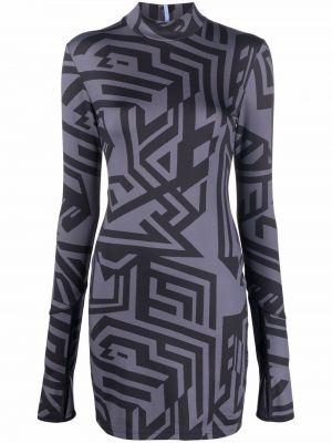 Платье макси с длинными рукавами - черное Mcq